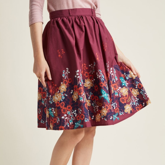 ModCloth Dresses & Skirts - Modcloth Charming Cotton Skirt in Circus